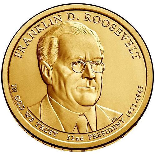 2014-P Franklin Roosevelt Presidential Dollar in BU