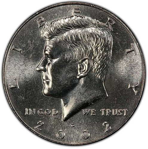 2002-D Kennedy Half Dollar in BU