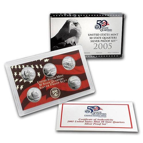 2005 Statehood Quarter Silver Proof Set