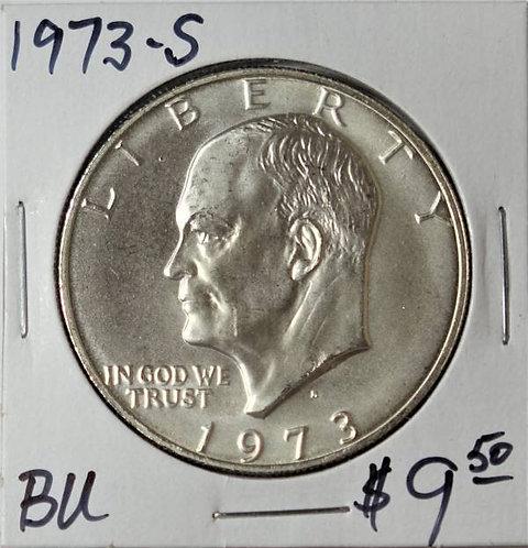 1973-S Eisenhower Dollar in BU (40% Silver)