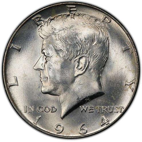 1964-D Kennedy Half Dollar in BU