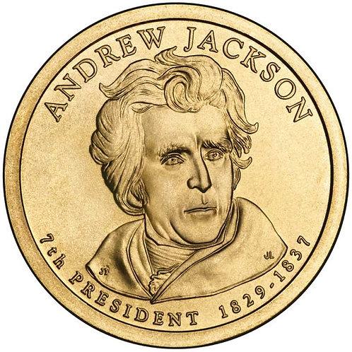 2008-D Andrew Jackson Presidential Dollar in BU