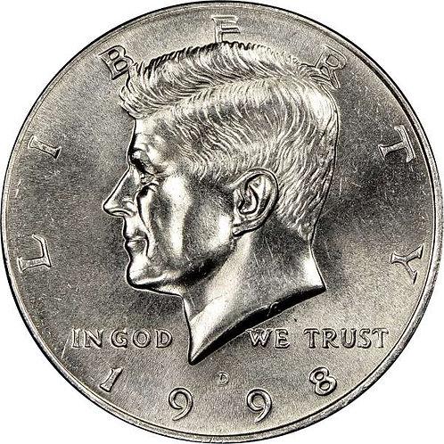 1998-D Kennedy Half Dollar in BU