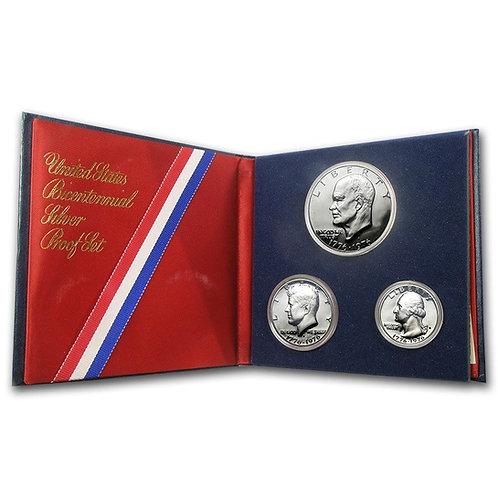1976 3-coin 40% Silver Bicentennial Proof Set