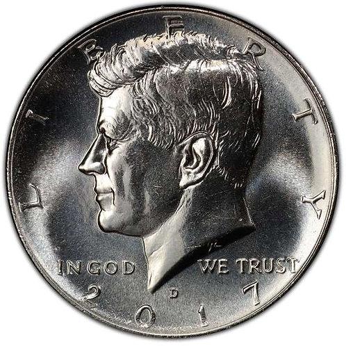 2017-D Kennedy Half Dollar in BU