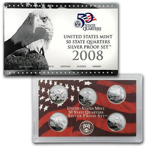 2008 Statehood Quarter Silver Proof Set