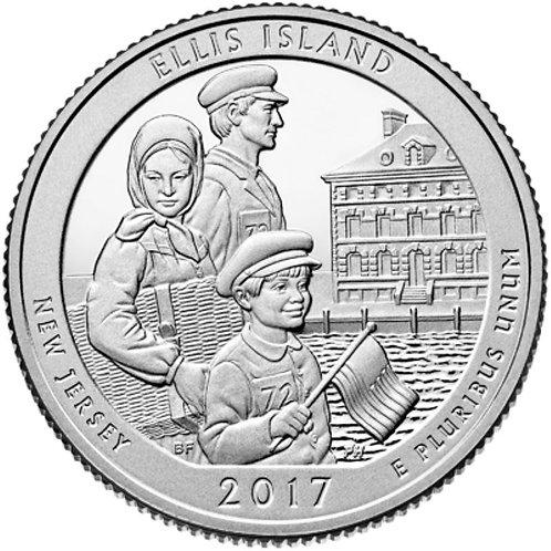 2017-P Ellis Island National Park Quarter in BU