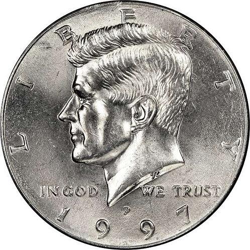 1997-P Kennedy Half Dollar in BU