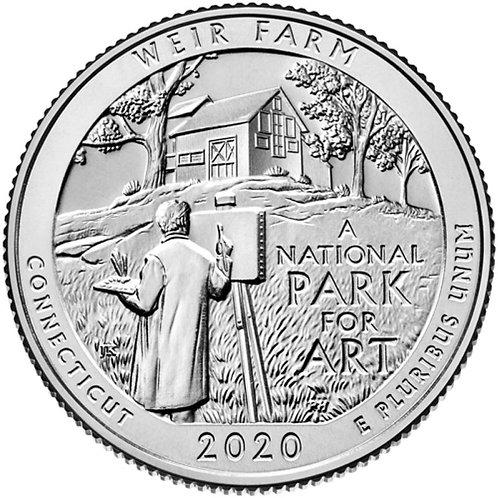 2020-D Weir Farm National Park Quarter in BU