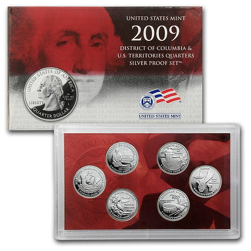 2009 DC & Territories Silver Proof Set