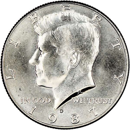1987-D Kennedy Half Dollar in BU
