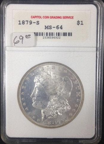 1879-S Morgan Dollar in MS64