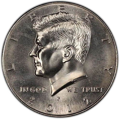 2012-P Kennedy Half Dollar in BU