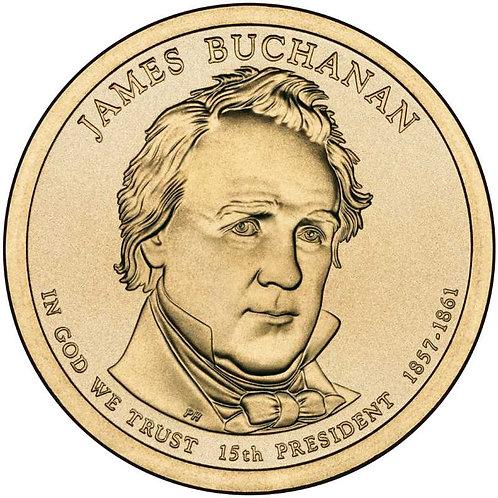 2010-D James Buchanan Presidential Dollar in BU