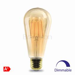 6w E27 T30 Dimli Amber Ampul