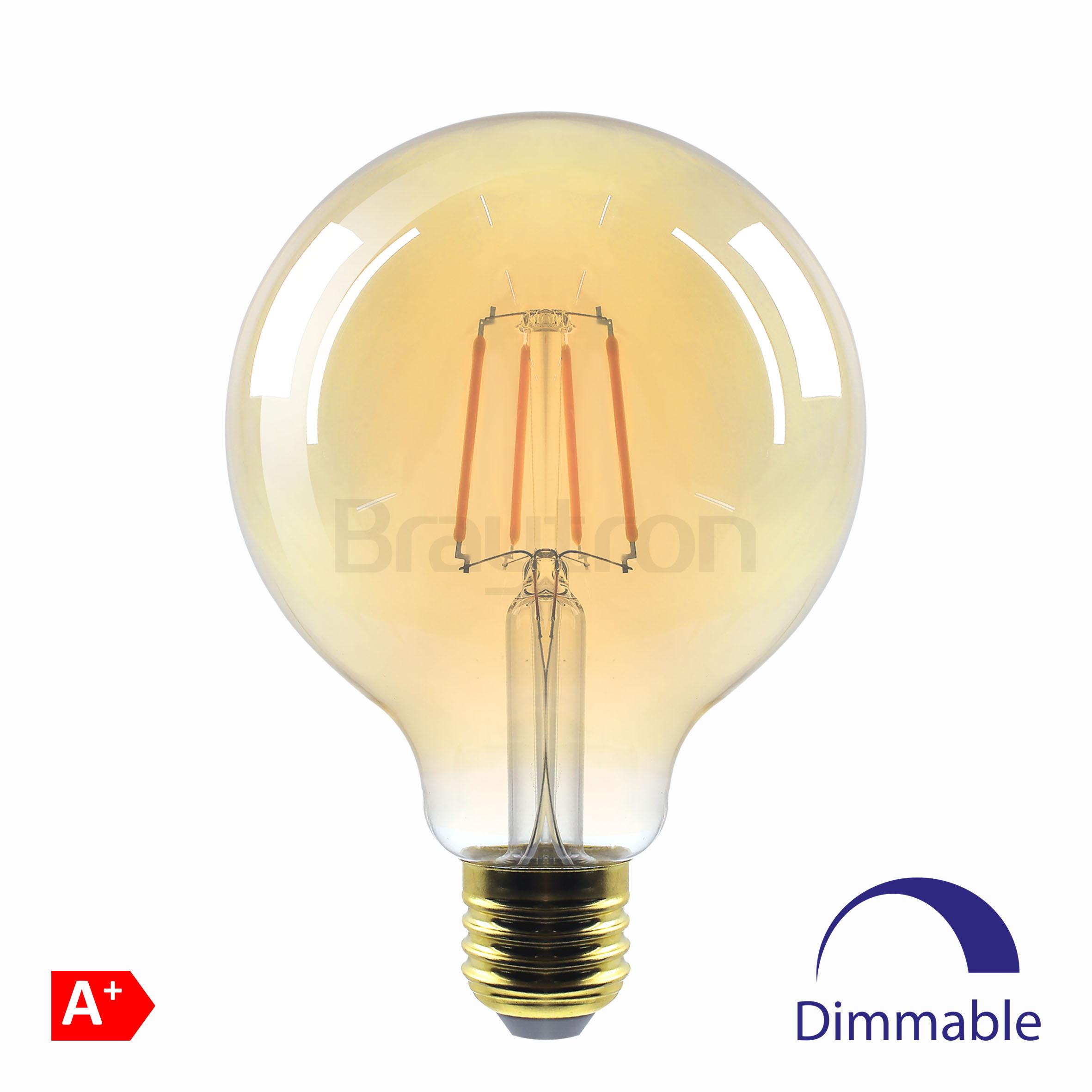 6w E27 G95 Dimli Amber Ampul