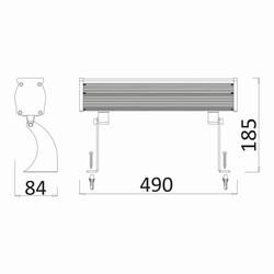 18w 0.49mt 18 Ledli RGB Wall Washer