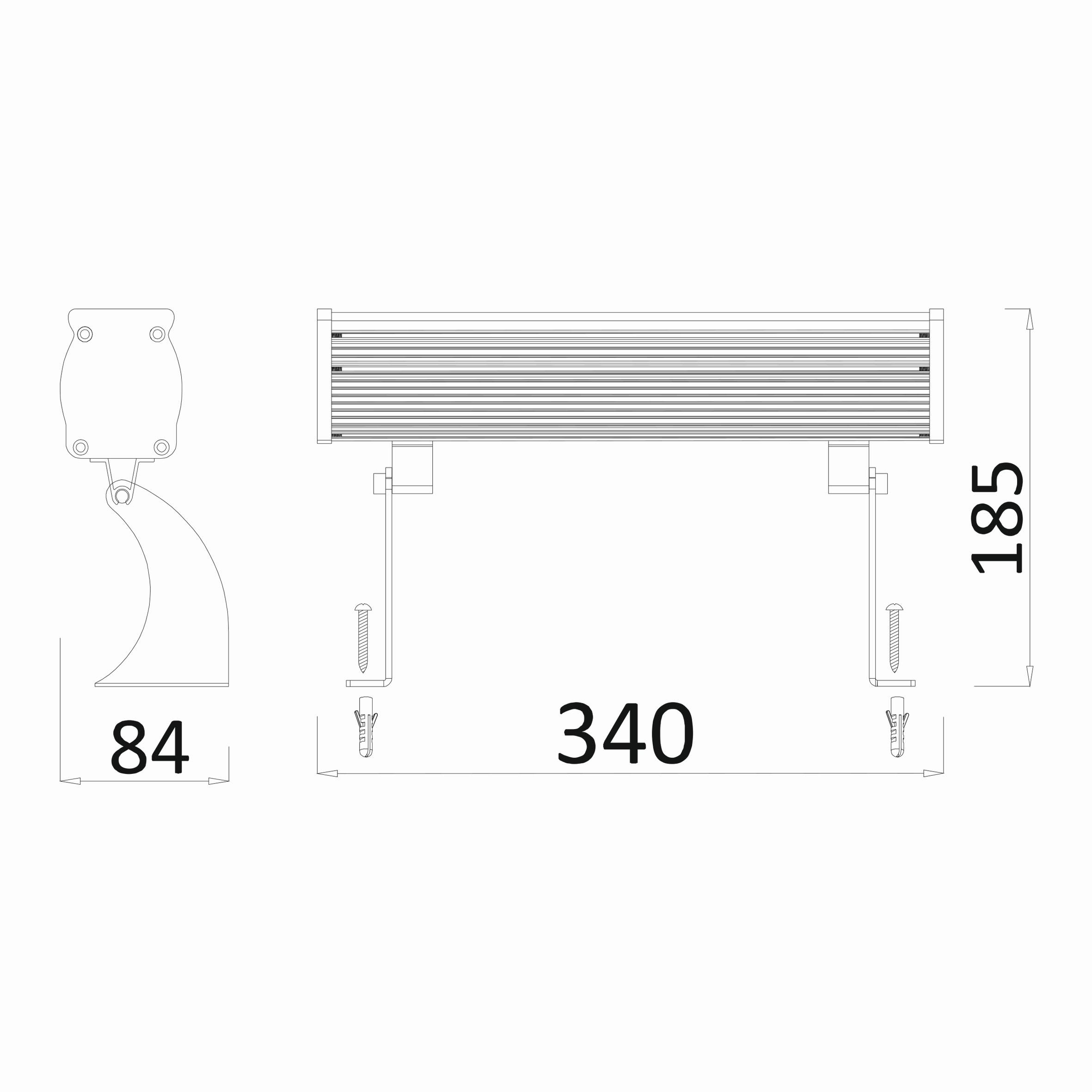 12w 0.34mt 12 Ledli RGB Wall Washer