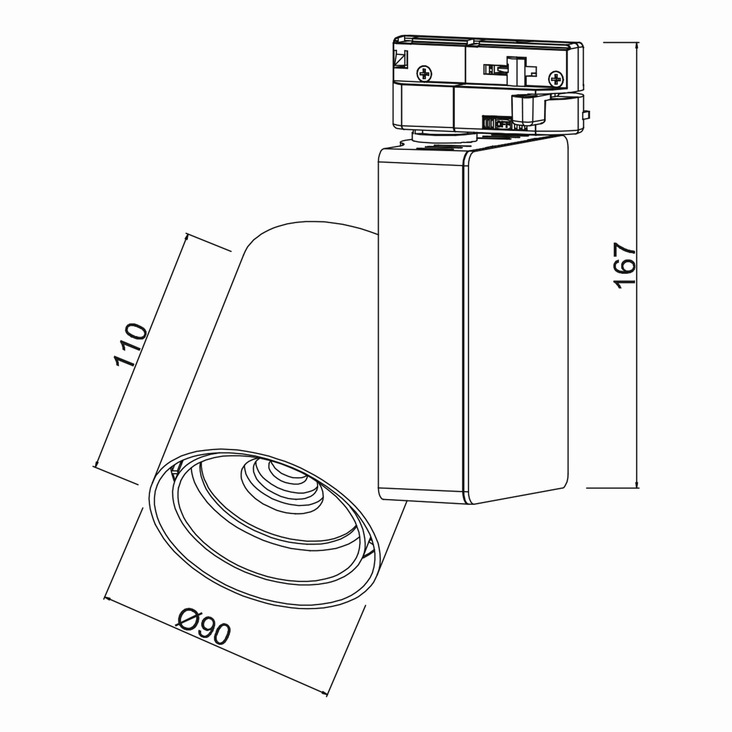 30w Cob Shopline-P Ray Spot Monofaze