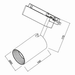 30w Cob Shopline-B Ray Spot Monofaze