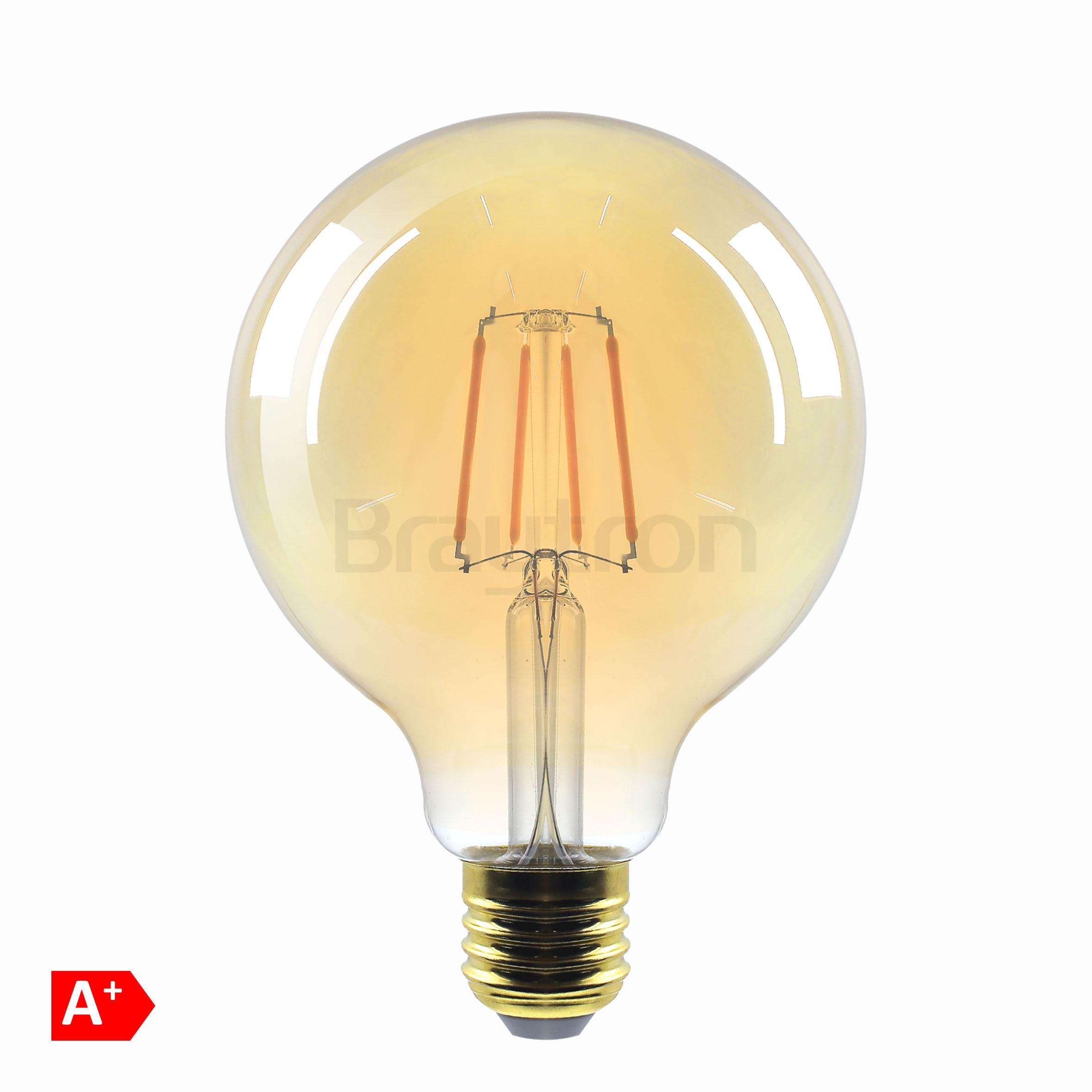 6w E27 G125 Amber Ampul