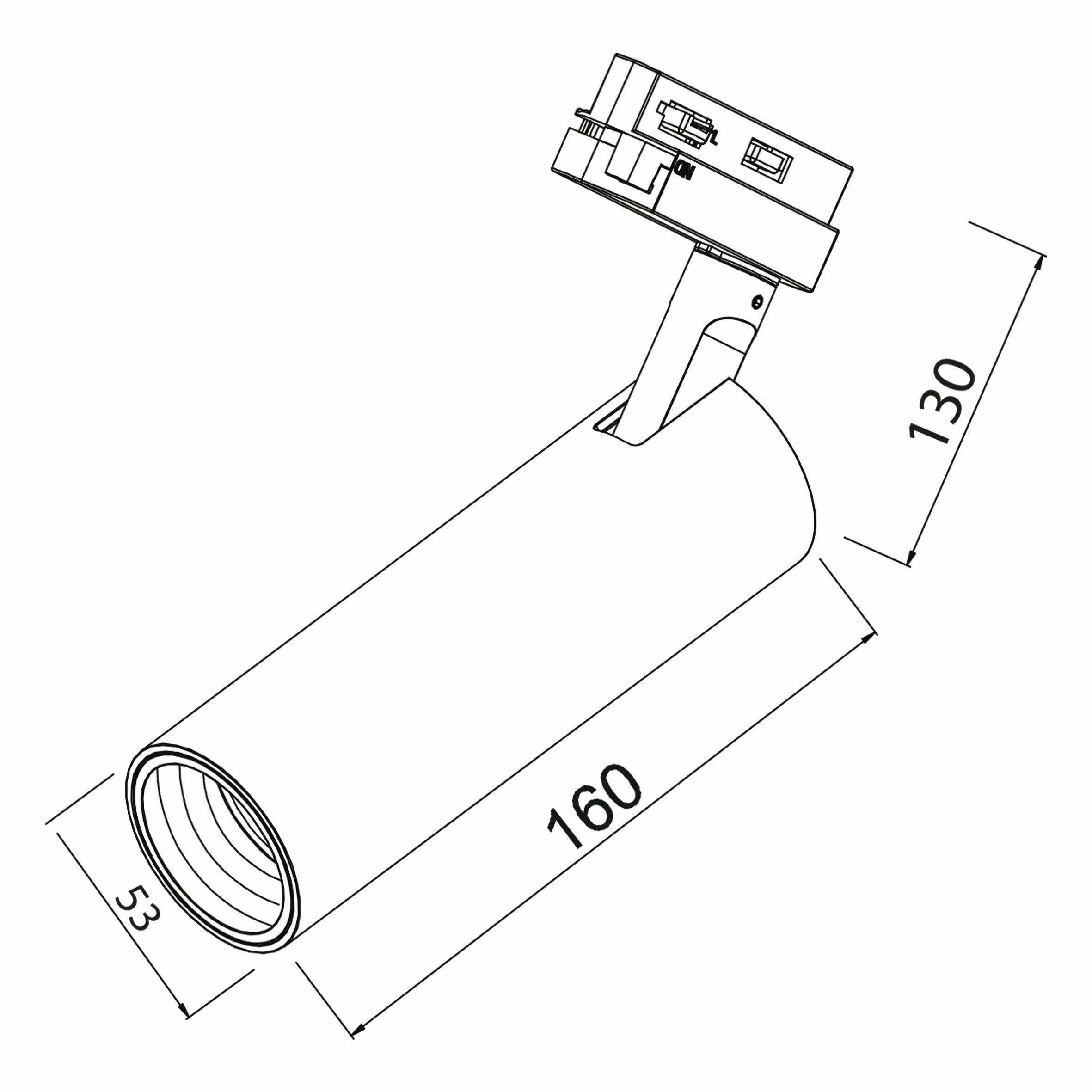 15w Cob Shopline-D Ray Spot Monofaze