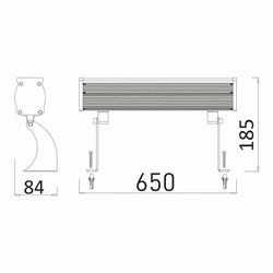 24w 0.65mt 24 Ledli RGB Wall Washer
