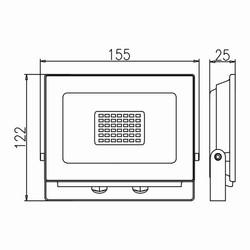 30w Ledli Projektör Teknik Çizim