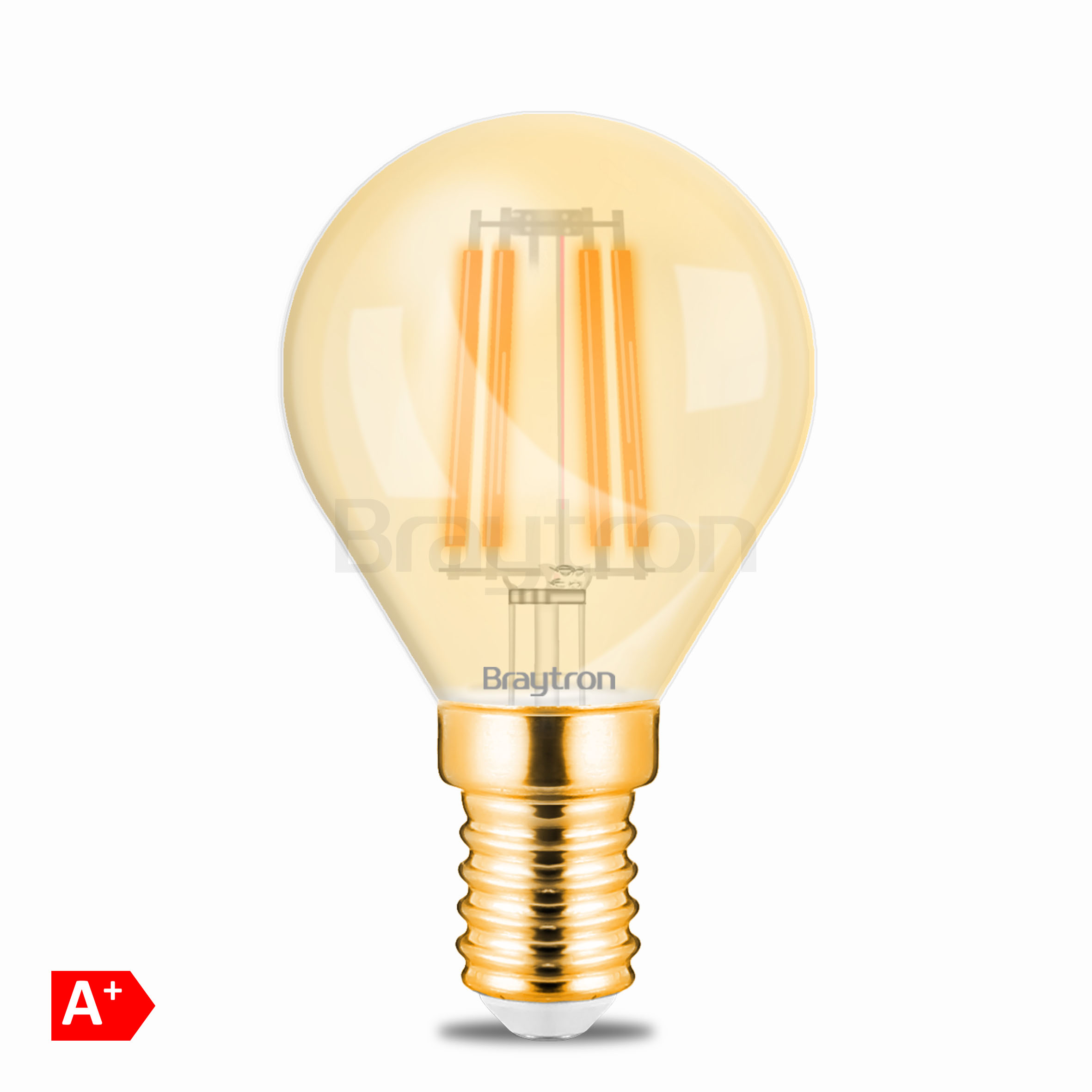 4w E14 Mini Glob Amber Ampul