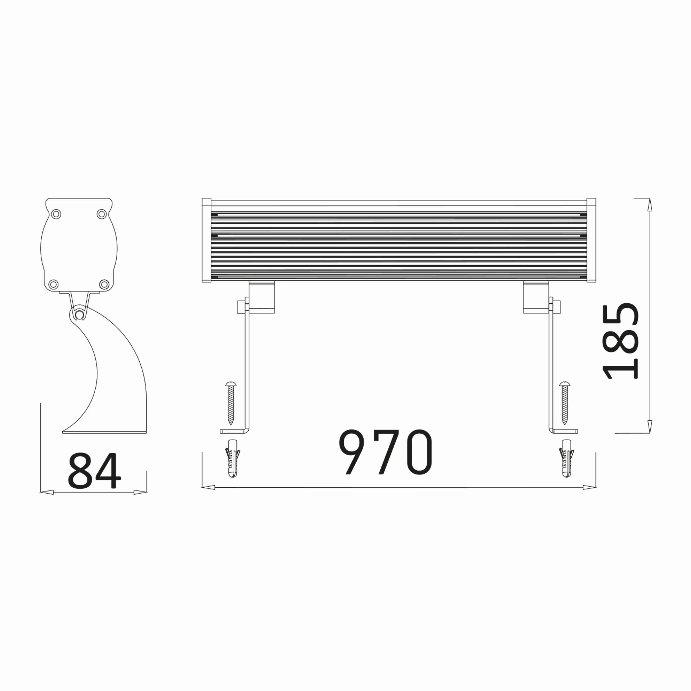 36w 1mt 36 Ledli RGB Wall Washer