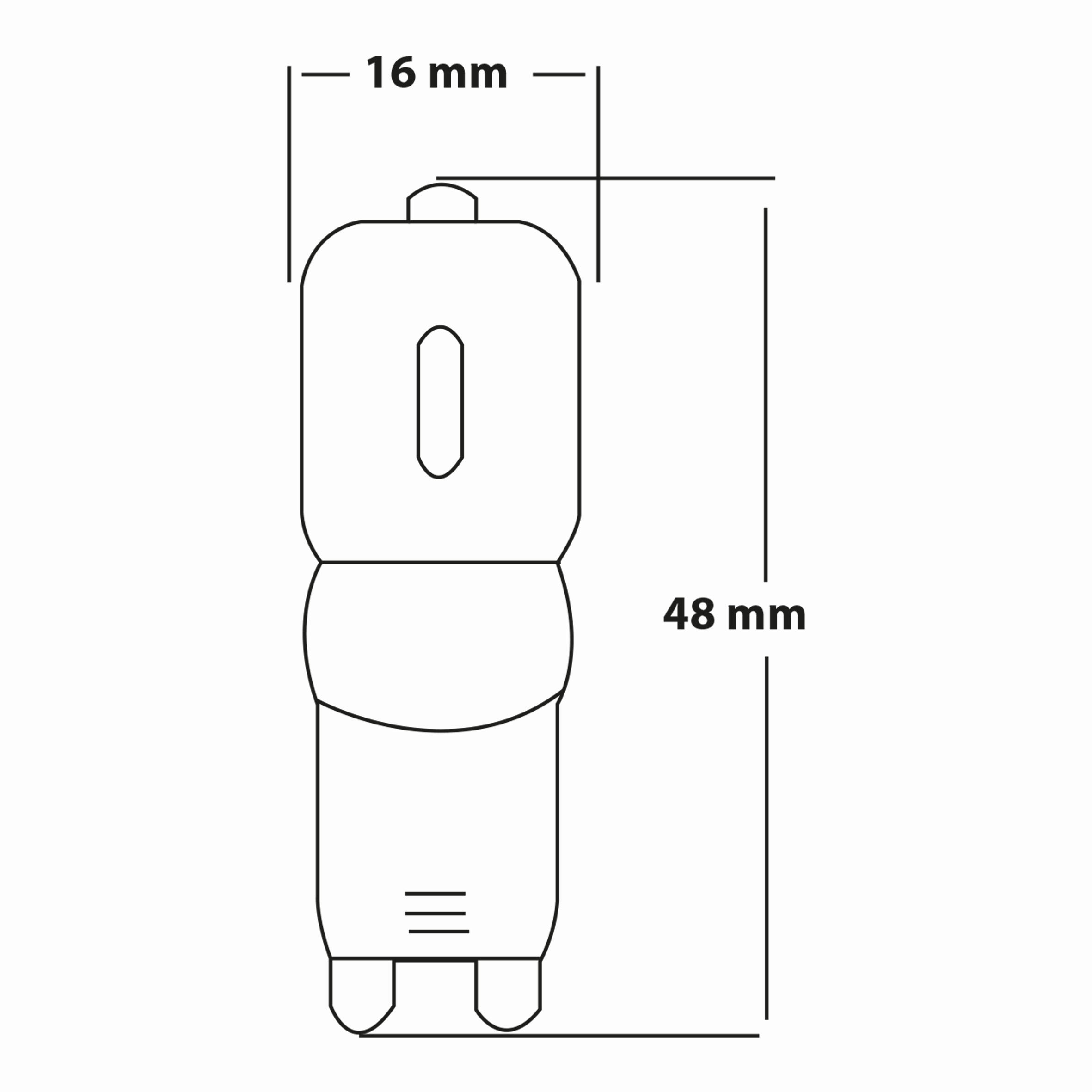 2.5w G9 Dimli Ampul Teknik Çizim