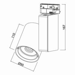 30w Cob Shopline-P Ray Spot Trifaze