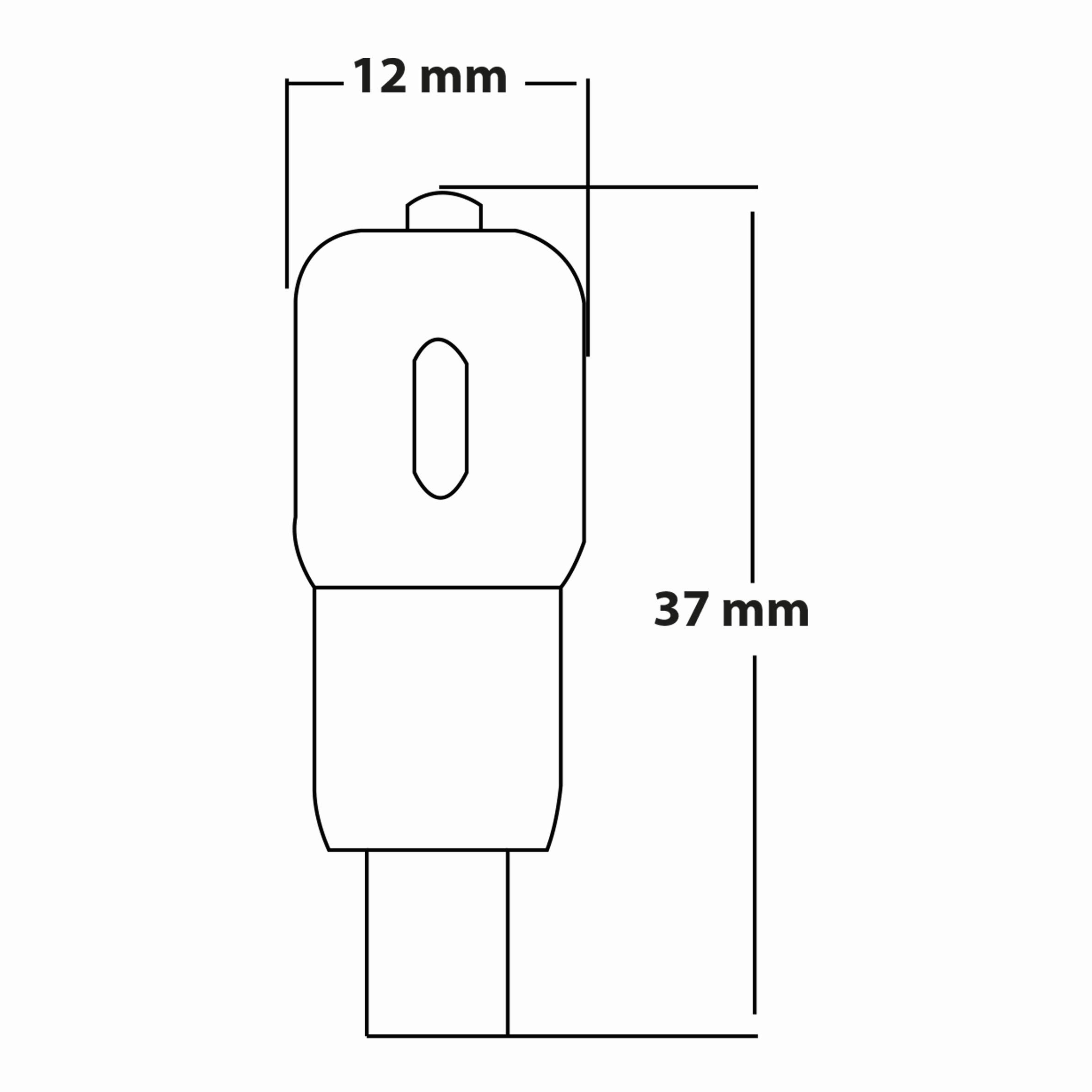 1.5w G4 Ampul Teknik Çizim