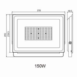 150w Ledli Projektör Teknik Çizim