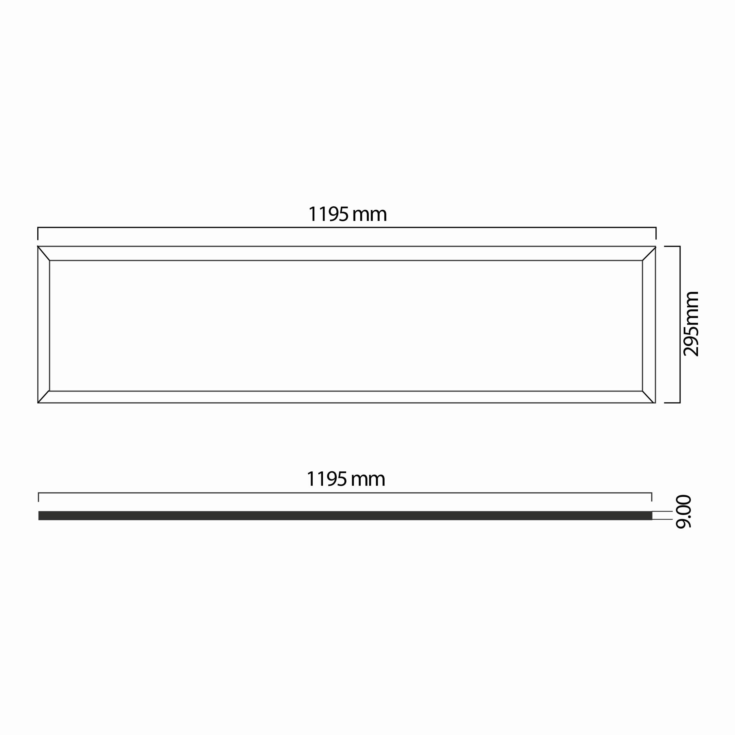 40w 30x120 Ledli Panel Teknik Çizim