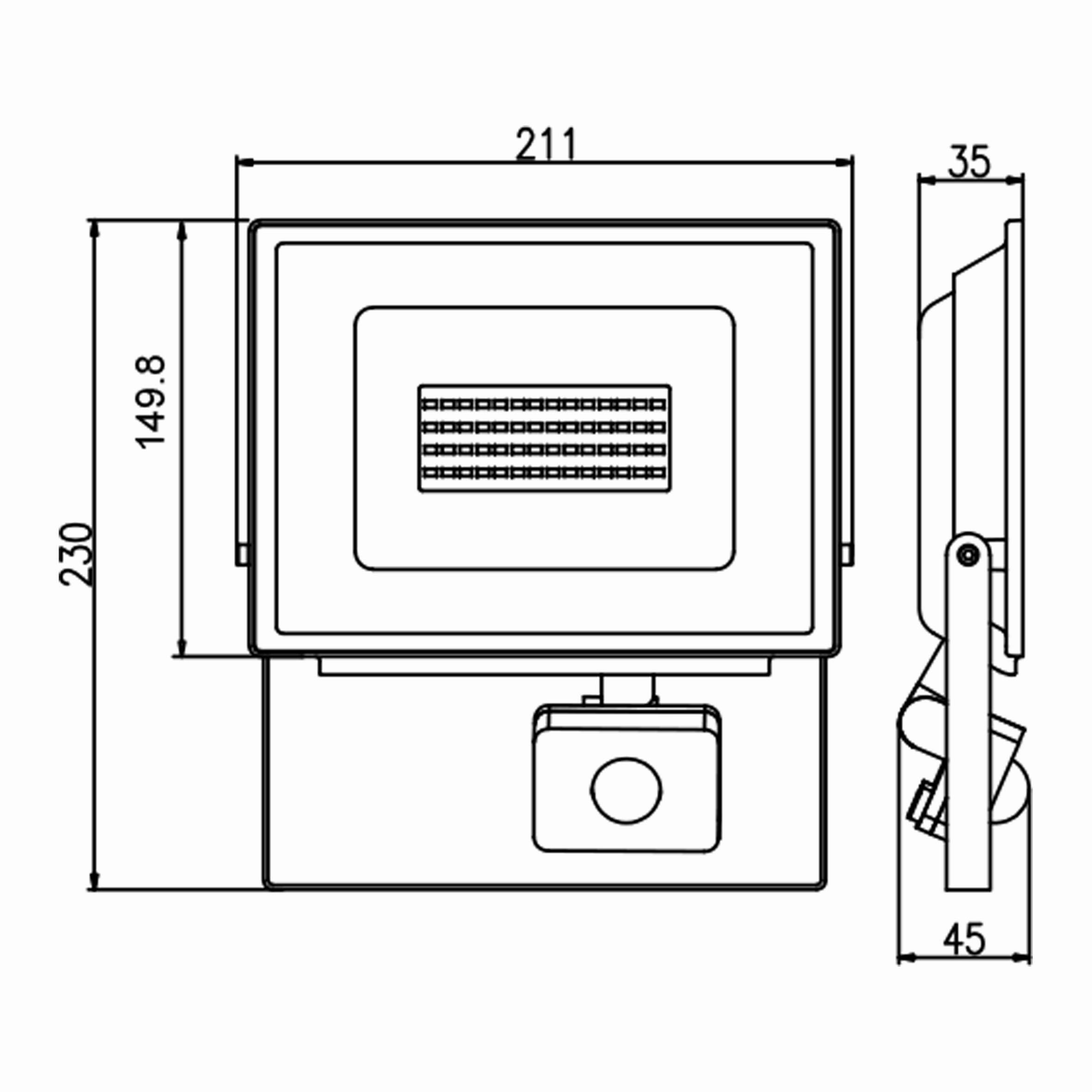 50w Sensörlü Ledli Projektör T.Ç.