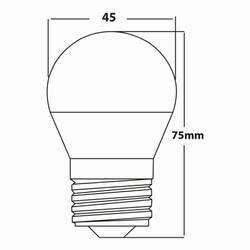 5w E27 Mini Glob Ampul Teknik Çizim
