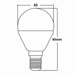 5w E14 Mini Glob Ampul Teknik Çizim