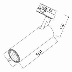 15w Cob Shopline-D Ray Spot Trifaze