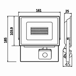 30w Sensörlü Ledli Projektör T.Ç.