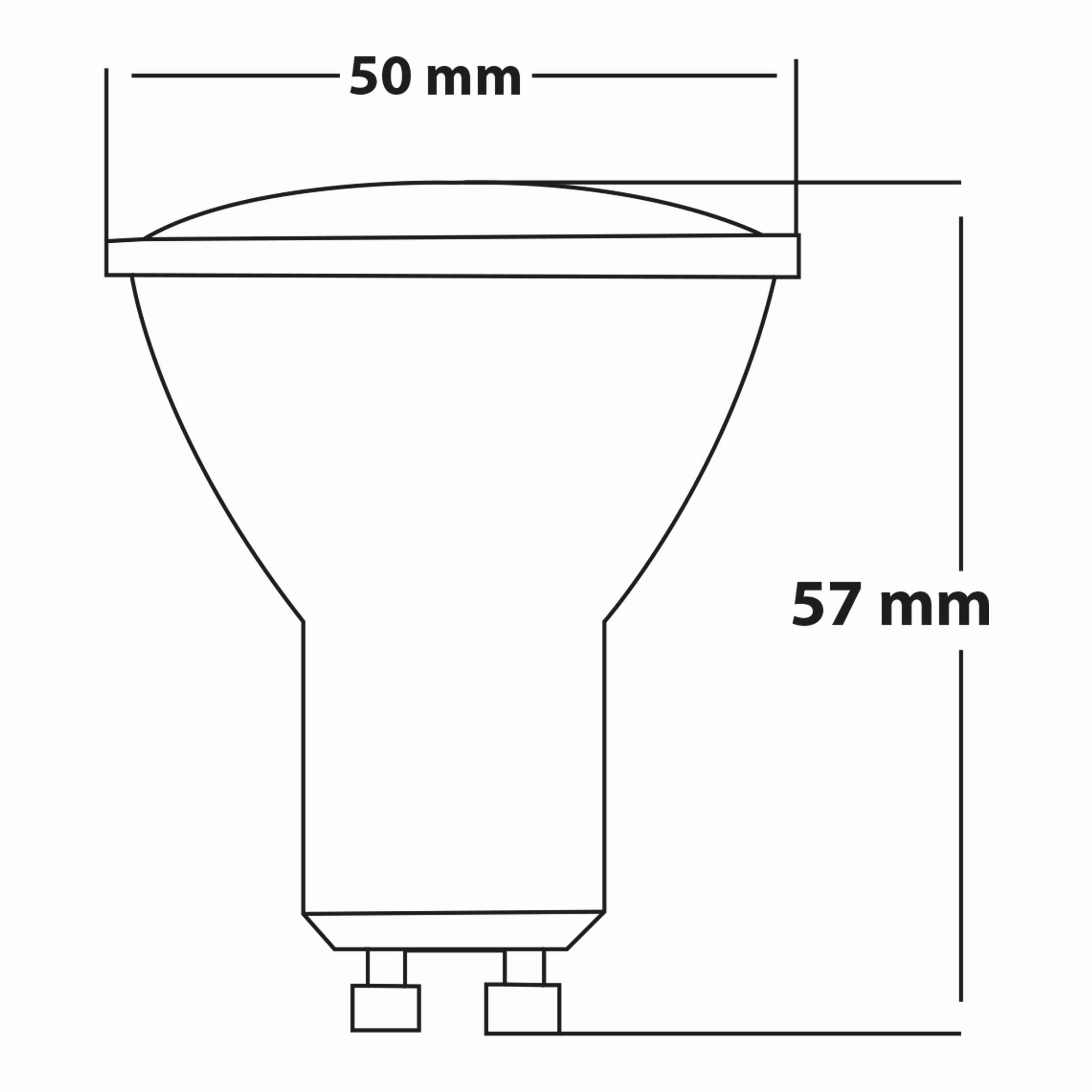 5.5w GU10 Lensli Dimli Cam Ampul T.Ç
