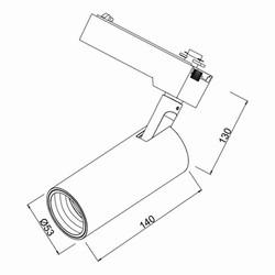 15w Cob Shopline-B Ray Spot Monofaze