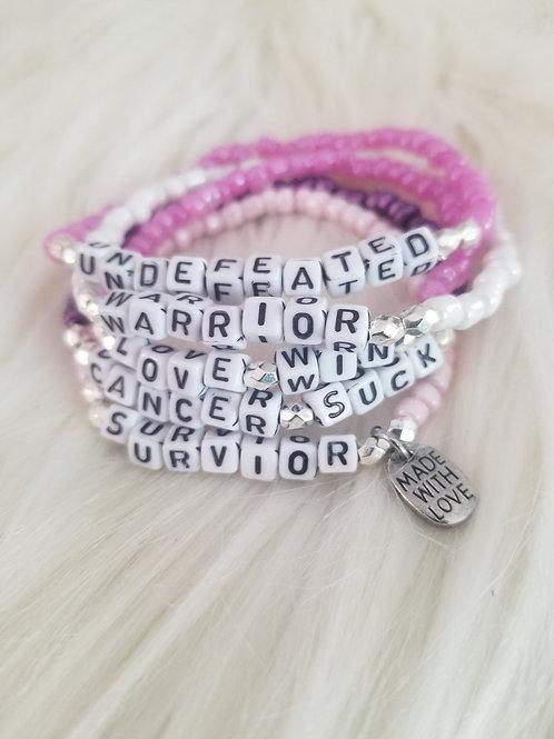 Customized Inspirational Bracelets (Set of 5)