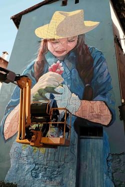 Fresque murale Moutiers