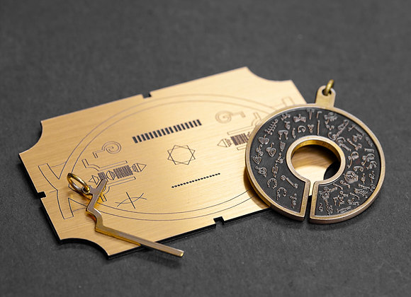 NEW 2019 ! BioSignautre Pendant with L90- Bronze 生物圖像吊牌組合