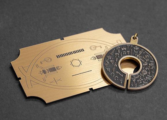 NEW 2019 ! BioSignautre Pendant - Bronze 生物圖像吊牌- 2019 (黃銅色)