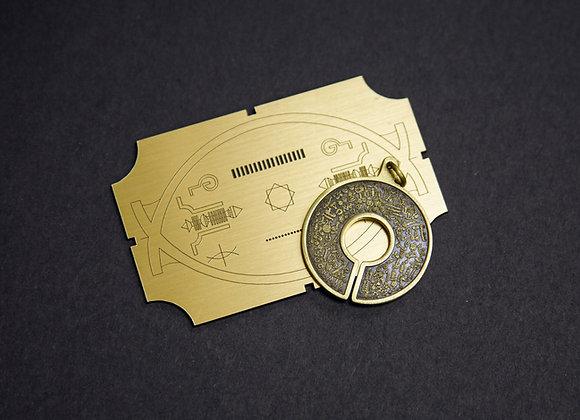 BioSignautre Pendant - Bronze 生物圖像吊牌- (黃銅)Ver. 2017