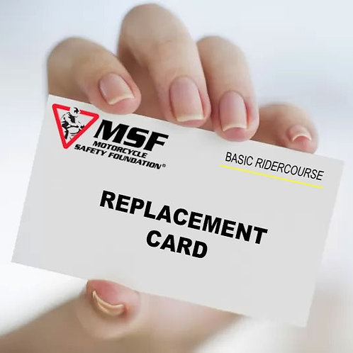 Replacement Course Completion Card