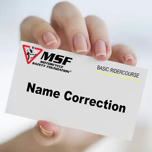 Name Correction - Course Completion Card