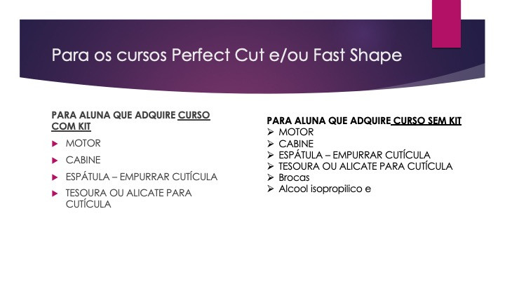 curso perfect e fast shape